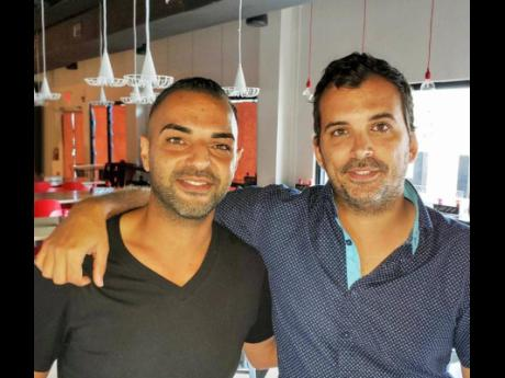 Marco Mauthner, Director of Food and Beverage (right), with Restaurant Supervisor, Kamyar Behzad, at Bonfire Urban Italian Kitchen.